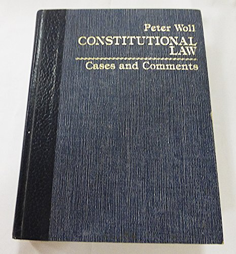 9780131679573: Constitutional Law: Cases and Comments