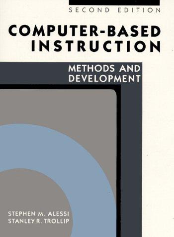9780131685925: Computer-Based Instruction: Methods and Development