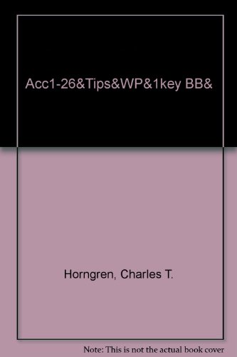 9780131688353: Acc1-26&Tips&Wp&1key Bb& (6th Edition)