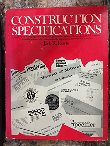 9780131693753: Construction Specifications