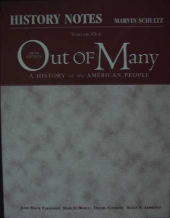 9780131694682: History Notes, Volume I for Out of Many: A History of the American People, Volume I (Chapters 1-16) (v. 1)