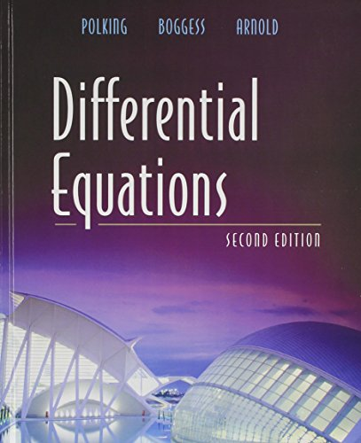Differential Equations with Ordinary Differential Equations Using MATLAB (2nd Edition): Polking, ...
