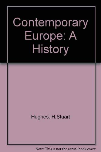 9780131700192: Contemporary Europe: A history