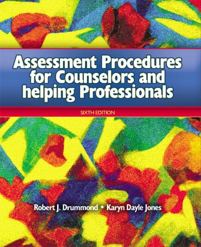 9780131707849: Assessment Procedures for Counselors and Helping Professionals (6th Edition)
