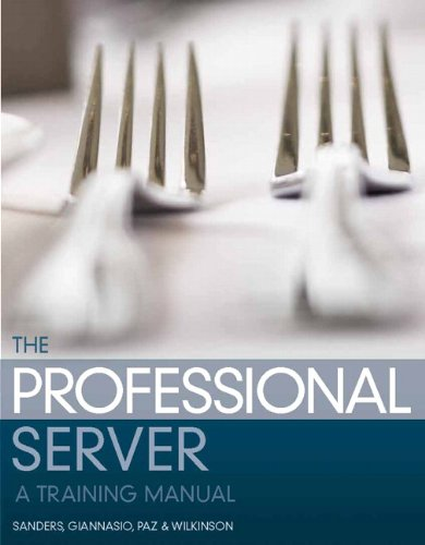 9780131709928: The Professional Server: A Training Manual (2nd Edition)