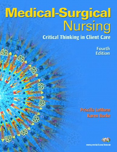 9780131713086: Medical-Surgical Nursing: Critical Thinking in Client Care, Single Volume (4th Edition)