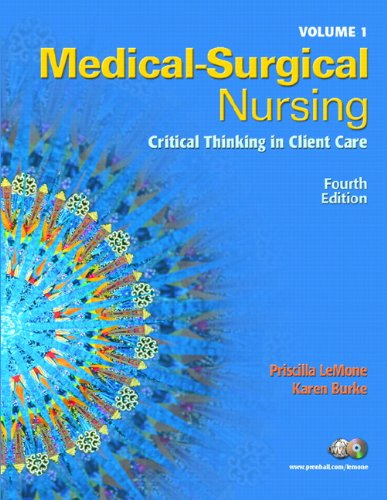 9780131713093: Medical-Surgical Nursing, Volume One: Critical Thinking in Client Care [With Dvdrom]: 1