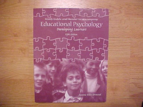 9780131713543: Study Guide and Reader to Accompany Educational Psychology Developing Learners
