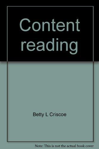 Content reading: A diagnostic/prescriptive approach