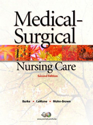 9780131714724: Medical-Surgical Nursing Care: Critical Thinking in Client Care