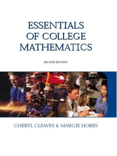 9780131714809: Essentials of College Mathematics (2nd Edition)
