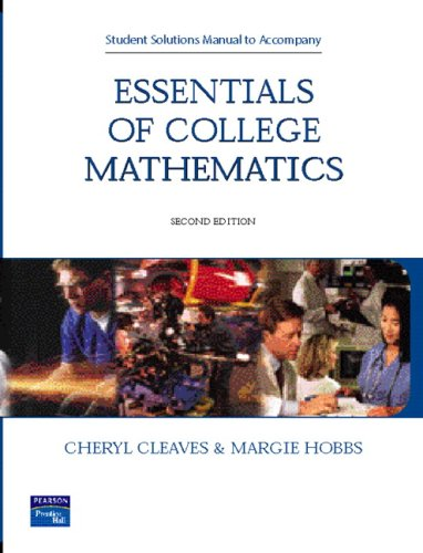 9780131714830: Student Solutions Manual
