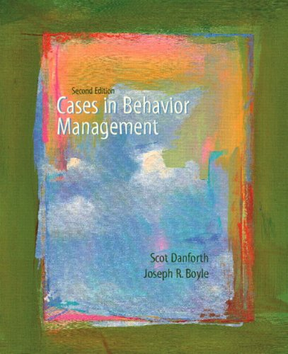 9780131715912: Cases in Behavior Management (2nd Edition)