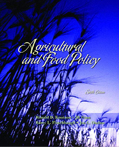 9780131718739: Agricultural and Food Policy (6th Edition)