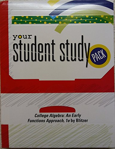 9780131727526: Your Student Study Pack (Your Student Study Pack: College Algebra: An Early Functions Approach)
