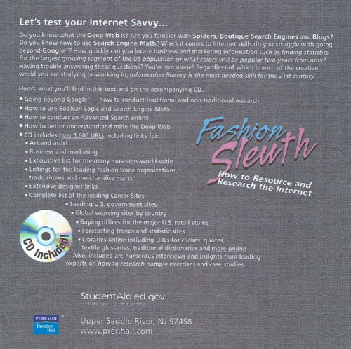9780131727625: The Fashion Sleuth: How to Research the Internet for Fashion