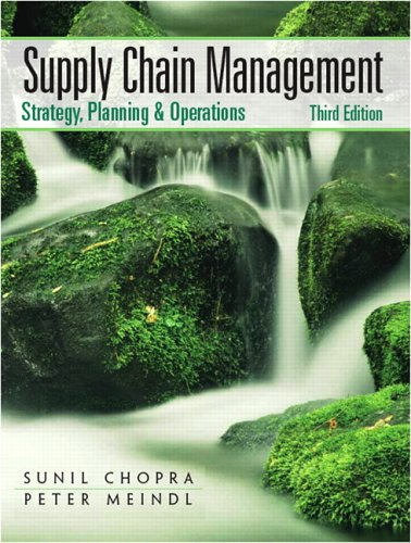 9780131730427: Supply Chain Management: Strategy, Planning, and Operation