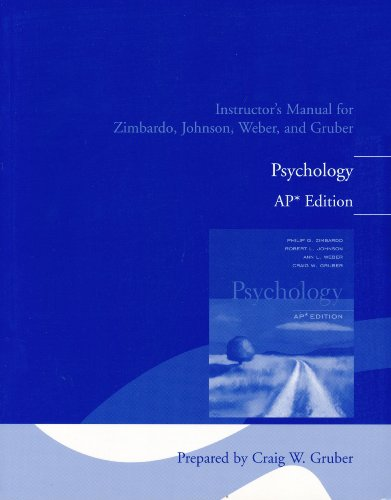 9780131731837: Instructor's Manual for Zimbardo, Johnson, Weber, and Gruber Psychology, AP Edition