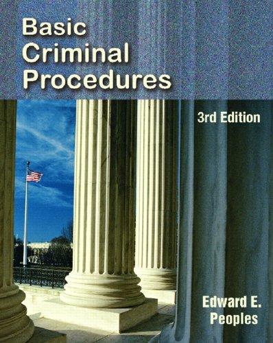 9780131731929: Basic Criminal Procedures