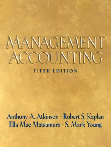 9780131732810: Management Accounting (5th Edition)