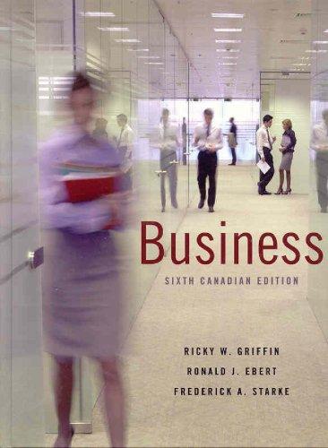 Business, Sixth Canadian Edition: STARKE ET AL