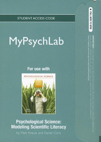 9780131739888: NEW MyPsychLab without Pearson eText -- Standalone Access Card -- for Psychological Science: Modeling Scientific Literacy