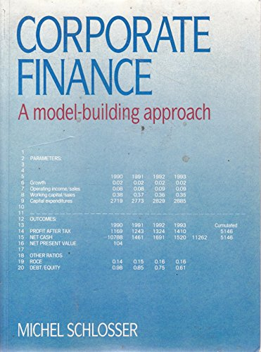 9780131742284: Corporate Finance: A Model Building Approach