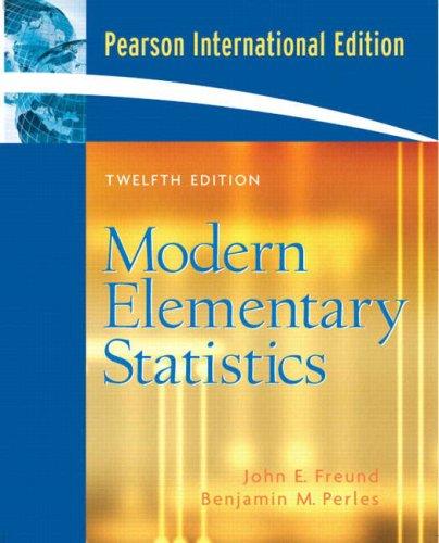 9780131742581: Modern Elementary Statistics