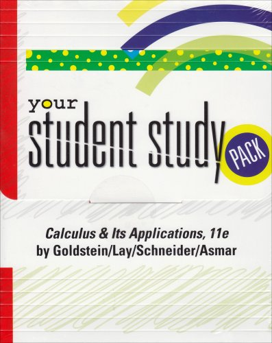 9780131745889: Your Student Study Pack: Calculus & Its Applications [With CD Lecture Videos & Visual Calculus and Student Solutions Manual]