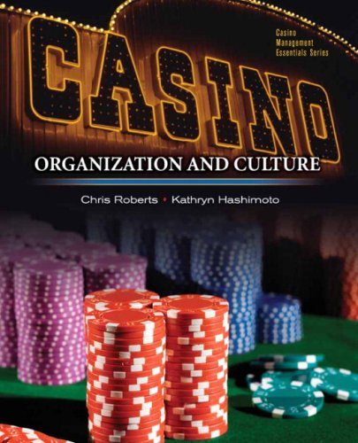 Casinos: Organization and Culture Format: Paperback: Hashimoto, KathrynRoberts, Chris