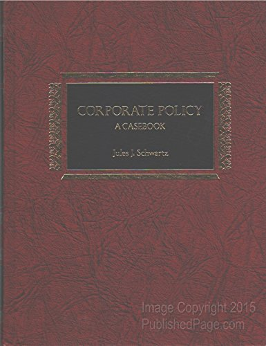 9780131748132: Corporate Policy: A Casebook
