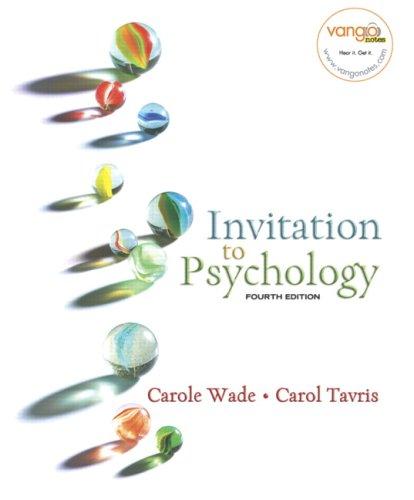 9780131750630: Invitation to Psychology