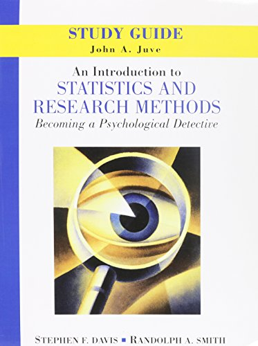9780131751897: Introduction to Statistics and Research Methods: Becoming a Psychological Detective, An with Study Guide