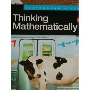 9780131752061: Thinking Mathematically, Instructor's Edition, 4th