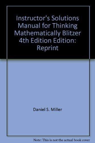 9780131752085: Thinking Mathematically Sol Man (TE)
