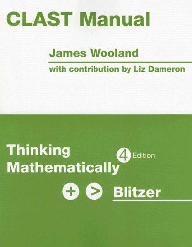 9780131752115: CLAST Manual for Thinking Mathematically