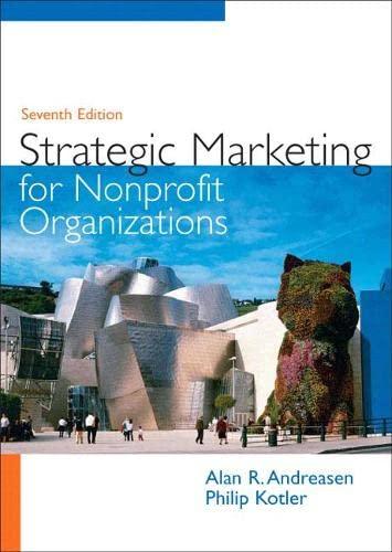 9780131753723: Strategic Marketing for Non-Profit Organizations (7th Edition)