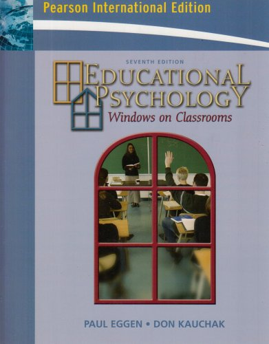 9780131753938: Educational Psychology: Windows on Classrooms: International Edition