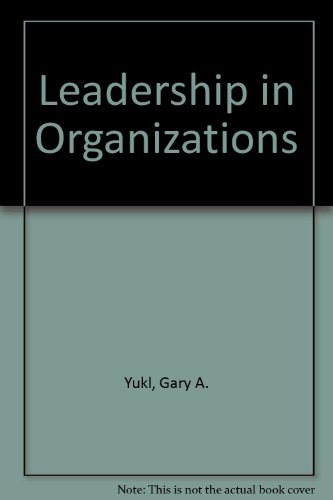 9780131767850: Leadership in Organizations