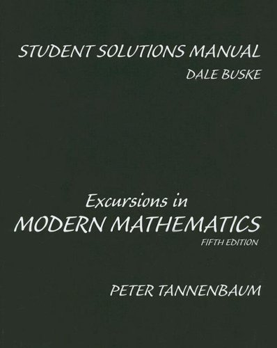9780131774858: Student Solutions Manual for Excursions in Modern Mathematics