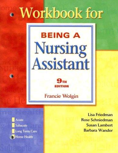 9780131779860: Workbook Being A Nursing Assistant