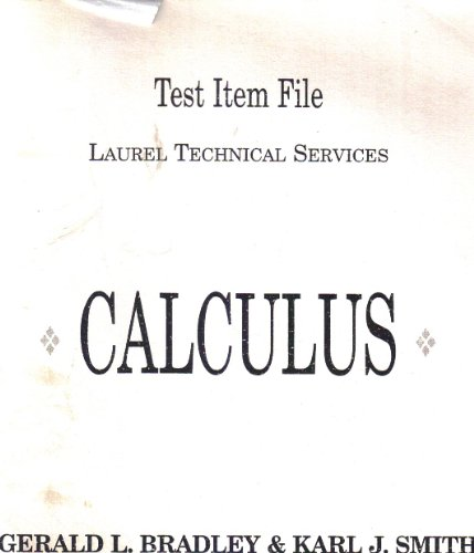 9780131787407: Calculus, Test Item File,