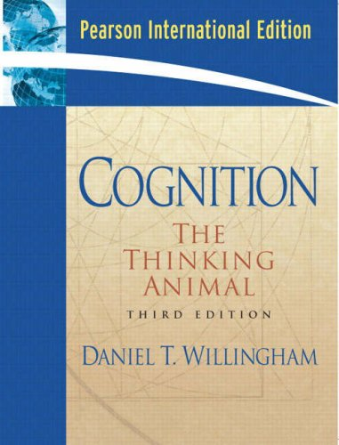 9780131789289: Cognition: The Thinking Animal: International Edition