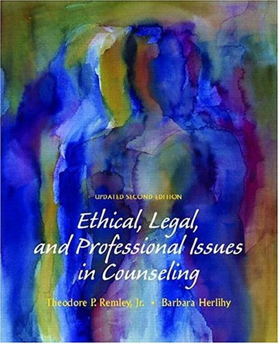 9780131789616: Ethical, Legal, and Professional Issues in Counseling, Updated (2nd Edition)