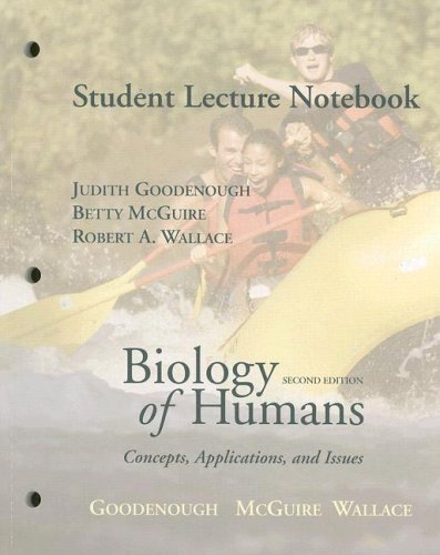 9780131790001: Student Lecture Notebook for Biology of Humans: Concepts, Applications, and Issues