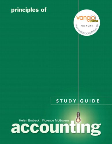 9780131792074: Principles of Accounting Study Guide