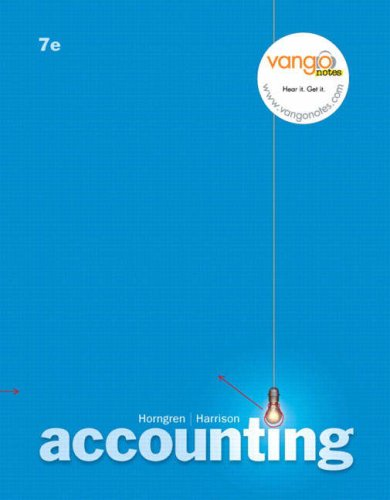 9780131792111: Accounting 7e: Study Guide (Chapters 12-25)