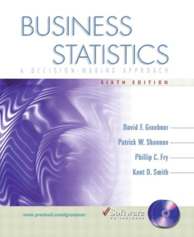 9780131796331: Business Statistics: A Decision-Making Approach with Student CD (6th Edition)