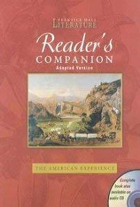 Prentice Hall Literature Reader's Companion: The American: Pretince