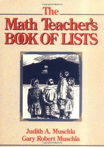 9780131803572: The Math Teacher's Book of Lists